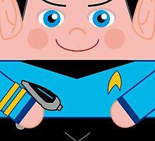 Mr Spock Hero Huggers by Renny Roccon