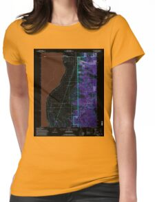 USGS TOPO Map California CA Willow Ranch 102564 1993 24000 geo Inverted Womens Fitted T-Shirt