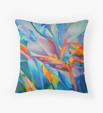 Flowers Abstract Floral Shapes Botanical Plant Nature Boho Throw Pillow