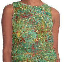 Abstract Green Red Pollock Style Pattern Shape Contrast Tank