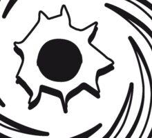 Loch einschuss spirale  Sticker