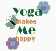Yoga make me happy Kids Clothes