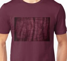 Burgundy grunge cloth texture Unisex T-Shirt