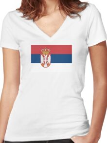 Serbia - Standard Women's Fitted V-Neck T-Shirt