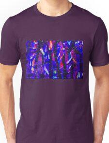 Abstract Shapes Geometric Pattern Purple Black Pink Doodle Boho Unisex T-Shirt
