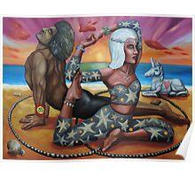 Mermaid Medicine Wheel Poster