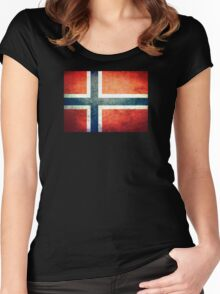 Norway - Vintage Women's Fitted Scoop T-Shirt