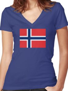 Norway - Standard Women's Fitted V-Neck T-Shirt