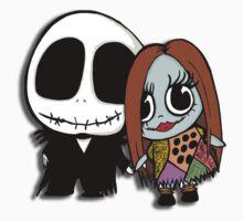 Chibi Jack and Sally  by PandaDoll