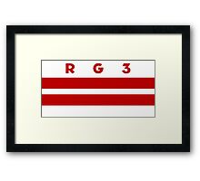 RG3 / D.C. Flag Framed Print
