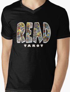 Be Well Read - READ TAROT (Black) Mens V-Neck T-Shirt