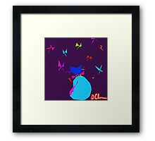 Kittyflies Framed Print
