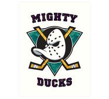 Mighty Ducks Art Print