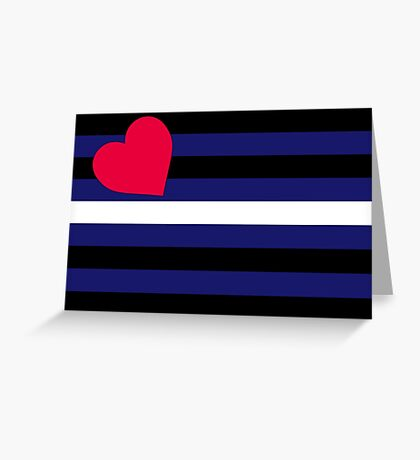 Leather, Latex and BDSM Pride Flag Greeting Card