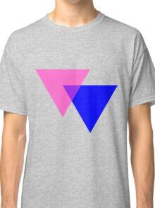 Bisexual Pride Symbol- Triangles Classic T-Shirt
