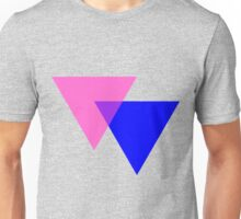 Bisexual Pride Symbol- Triangles Unisex T-Shirt