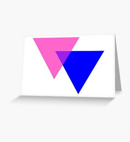 Bisexual Pride Symbol- Triangles Greeting Card
