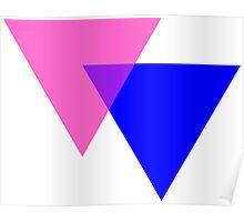 Bisexual Pride Symbol- Triangles Poster