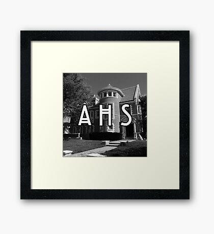 AHS murder house Framed Print