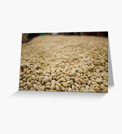 Close up of Coffee Beans Greeting Card