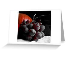 Dark Grapes Greeting Card