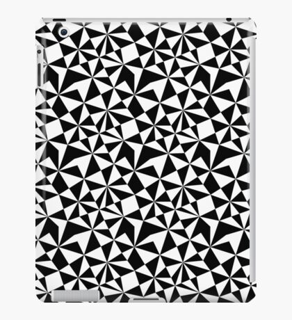 Abstract Geometric Triangle pattern Black and white iPad Case/Skin