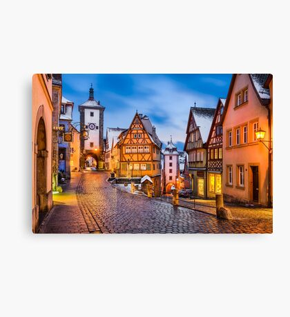 Night in Rothenburg ob der Tauber Canvas Print