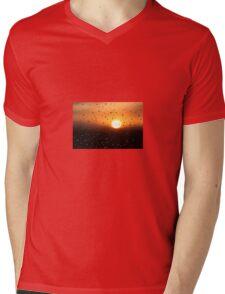Water Droplets During Sunset Mens V-Neck T-Shirt