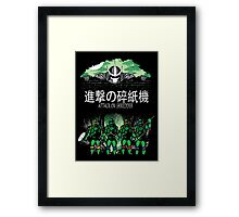 Attack on Shredder (All Turtles) Framed Print