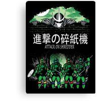 Attack on Shredder (All Turtles) Canvas Print