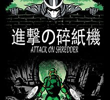 Attack on Shredder (Mikey) by GreenHRNET