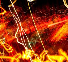 Essence of light in time - abstract by Timothy  Snyder