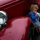 I'm guarding Daddy's car........! by Roy  Massicks