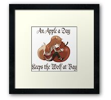 An Apple a Day Framed Print
