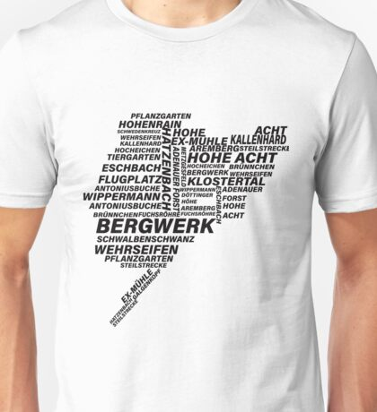 Nordschleife Word Cloud Unisex T-Shirt