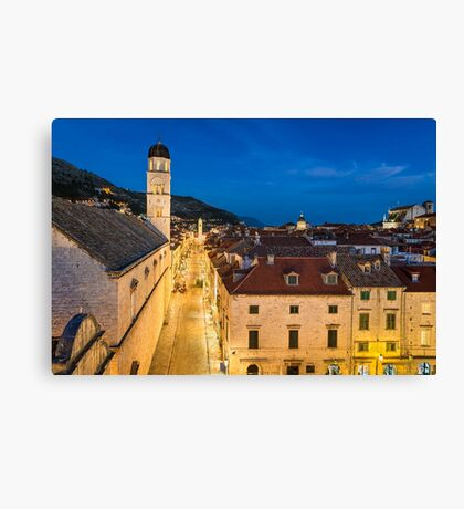 Old town of Dubrovnik Canvas Print