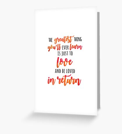 The Greatest Thing Greeting Card