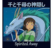 Chihiro and Haku Print - Spirited Away - (Designs4You) - Blue Writing Photographic Print