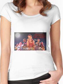 Sidewalk Cafe Halloween Show Gig Flyer, October 2016 Women's Fitted Scoop T-Shirt