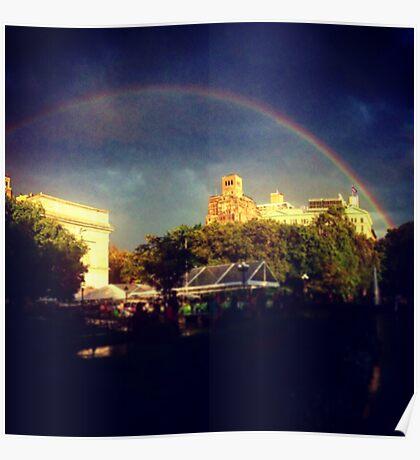 Washington Square Park Rainbow Poster
