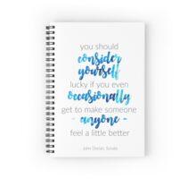 Scrubs Finale Quote Spiral Notebook