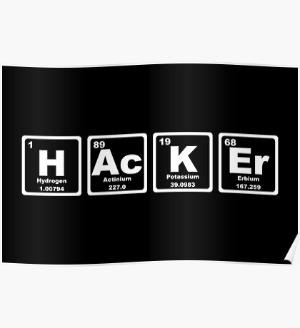Hacker - Periodic Table Poster