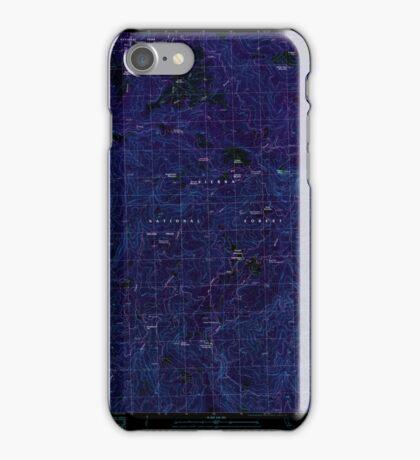 USGS TOPO Map California CA White Chief Mountain 295763 1990 24000 geo Inverted iPhone Case/Skin
