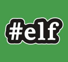 Elf - Hashtag - Black & White by graphix