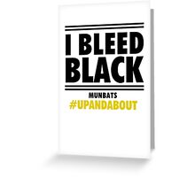 Bleed Black Greeting Card