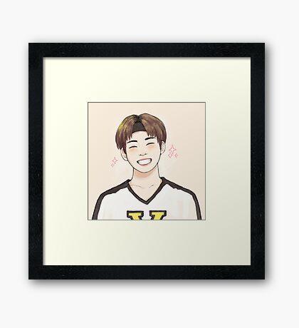Hockey Taehyung Framed Print