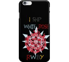 I Ship White Rose iPhone Case/Skin