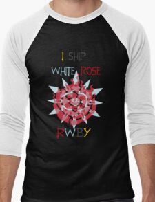 I Ship White Rose Men's Baseball ¾ T-Shirt