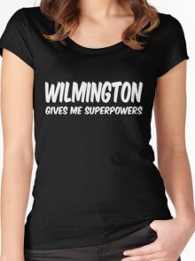 Wilmington Funny Superpowers T-shirt Women's Fitted Scoop T-Shirt