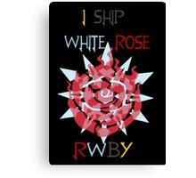 I Ship White Rose Canvas Print
